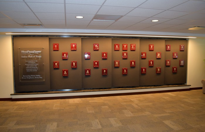 West Penn Power Hall of Fame Safety Wall
